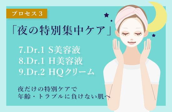 MieMieの肌プロセス4「夜の特別集中ケア」