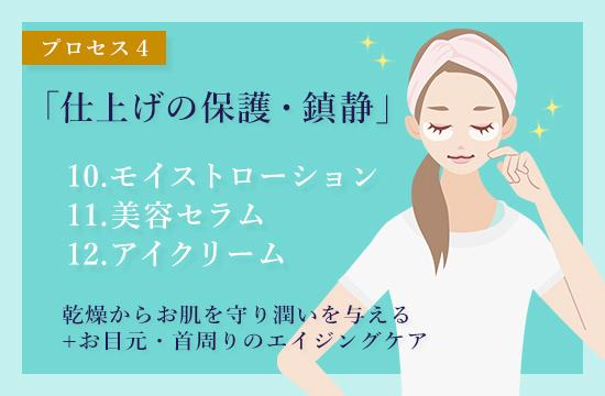 MieMieの肌プロセス4「仕上げの保護・鎮静」